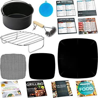 Paquetes elementales, Accessories for Square Shape Air Fryer Baskets, Small to Medium