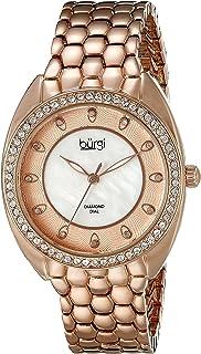 ساعة كوارتز بزجاج سواروفسكي للنساء من بورجي BUR145RG
