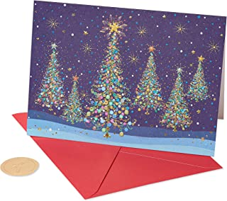 white embossed christmas cards