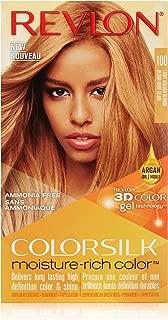 Revlon Colorsilk Moisture Rich Hair Color, Light Golden Blonde No. 100, 1 Count