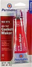 Permatex 81160 High-Temp Red RTV Silicone Gasket, 3 oz