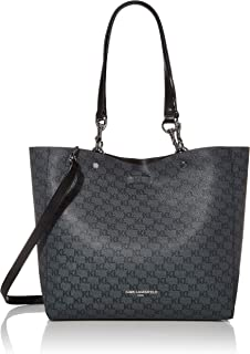 Karl Lagerfeld Paris Adele Applique Tote Bag, Grey/Black