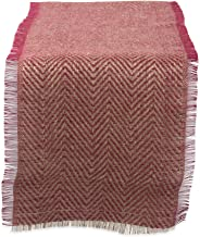 DII Natural Jute Burlap Table Runner for Dining Room, Foyer Table, Spring Parties and Everyday Use - 14x72, Barn Red Chevron