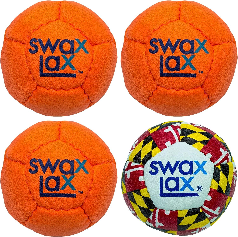 Orange and 上等 Maryland SWAX 期間限定 LAX Lacrosse Training Ind Bundle Ball -