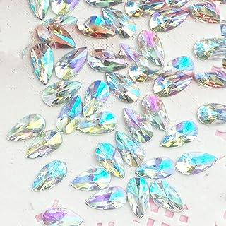 0e9125db96eac9 30 pcs 8x13mm Teardrop Light Crystal AB Acrylic Special Effect Rhinestones   ship with FREE GIFT