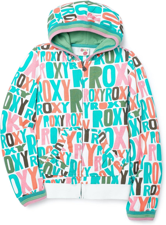 Roxy Big Girls' Roxy Girl - Candy Printed, Zip-Front Fleece Hoodie