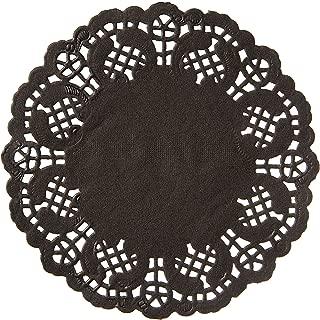 Darice Black Paper Doilies, 50 Piece