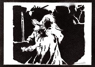 Poster Gandalf El Señor de los Anillos Grafiti Hecho a Mano The Lord of the Rings Handmade Street Art - Artwork