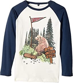 Stella McCartney Kids - Buck Bear Graphic Raglan T-Shirt (Toddler/Little Kids/Big Kids)