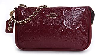 Women's Signature Debossed Patent Leather Large Wristlet 19