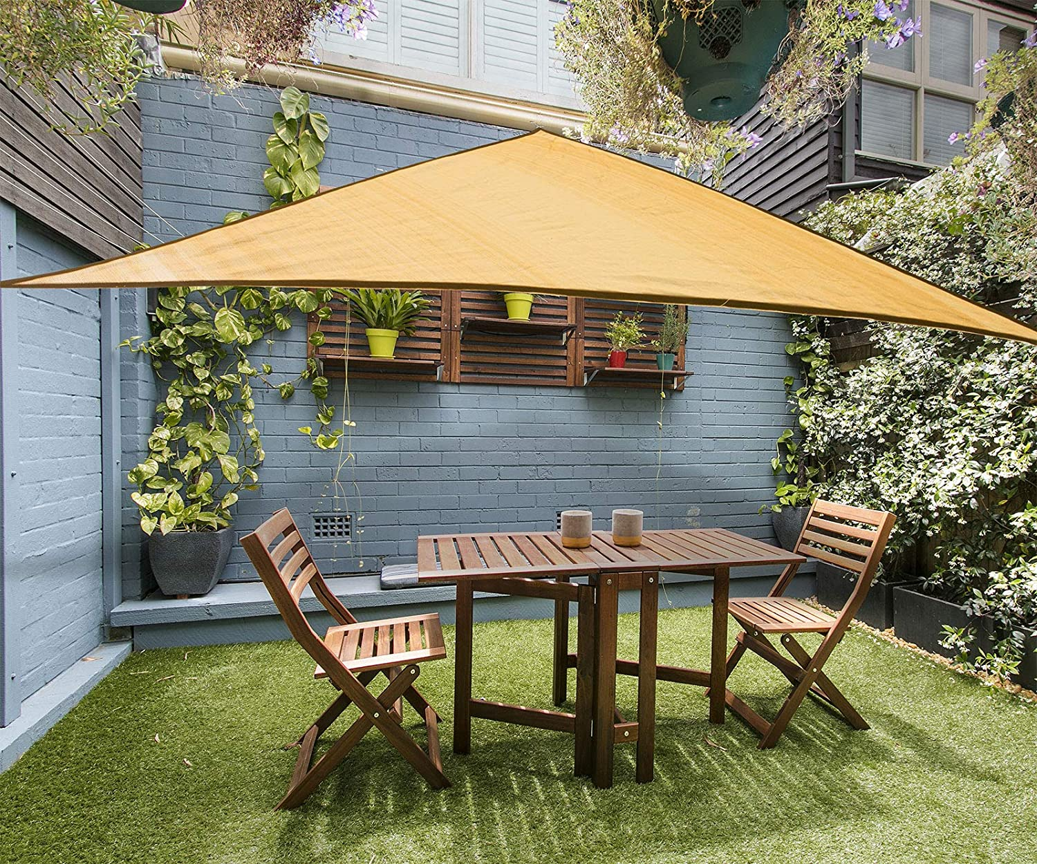 16' Triangle Sun New product! New type Shade Sail Canopy Outdoor Excellent in - Sunburst Durable