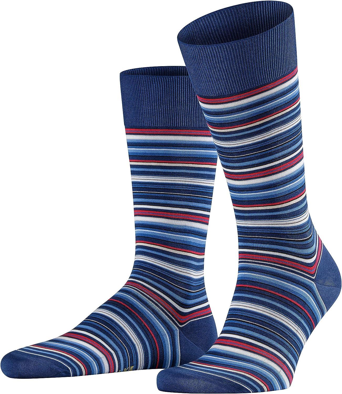 FALKE Mens Microblock Socks Cotton Black Blue 1 Pair