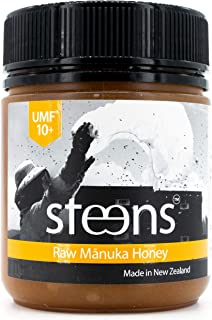Steens Manuka Honey UMF 10 (MGO 263) 12 Ounce | Pure Raw Unpasteurized Honey From New Zealand NZ | Traceability Code on Each Label