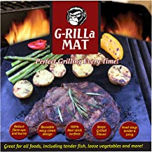 G-RILLa Grill Mat (3 Mats) Premium Non-Stick BBQ Grill Mats, BBQ Accessories, PFOA Free, Works on Gas, Charcoal, Electric Grill, Smokers.Reusable-Reversible 13 X 15.75