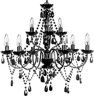 The Original Gypsy Color Extra Large 9 Light Black Chandelier H26