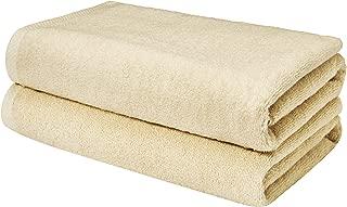 AmazonBasics Quick-Dry Bathroom Towels, Bath Sheet, Linen