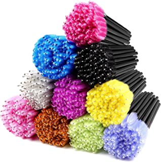 Disposable Mascara Wands 500PCS, Disposable Mascara Applicators Multicolored 10 colors, ECBASKET Mascara Brushes, Eyelash ...