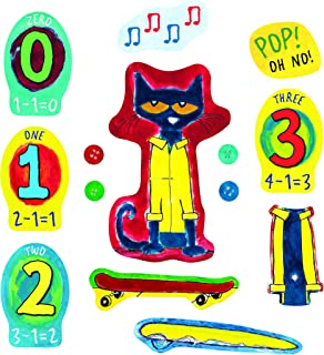 Little Folk Visuals Pete the Cat and His Four Groovy Buttons Precut Flannel/Felt Board Figures, 14 Pieces Set