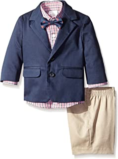 Boys 4-Piece Suit Set with Dress Shirt, Bow Tie, Pants, and Jacket