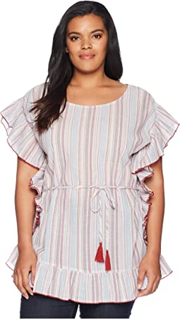 Plus Size Anara Striped Blouse