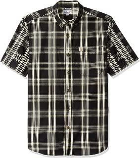 Men's Essential Plaid Button Down Short Sleeve Shirt