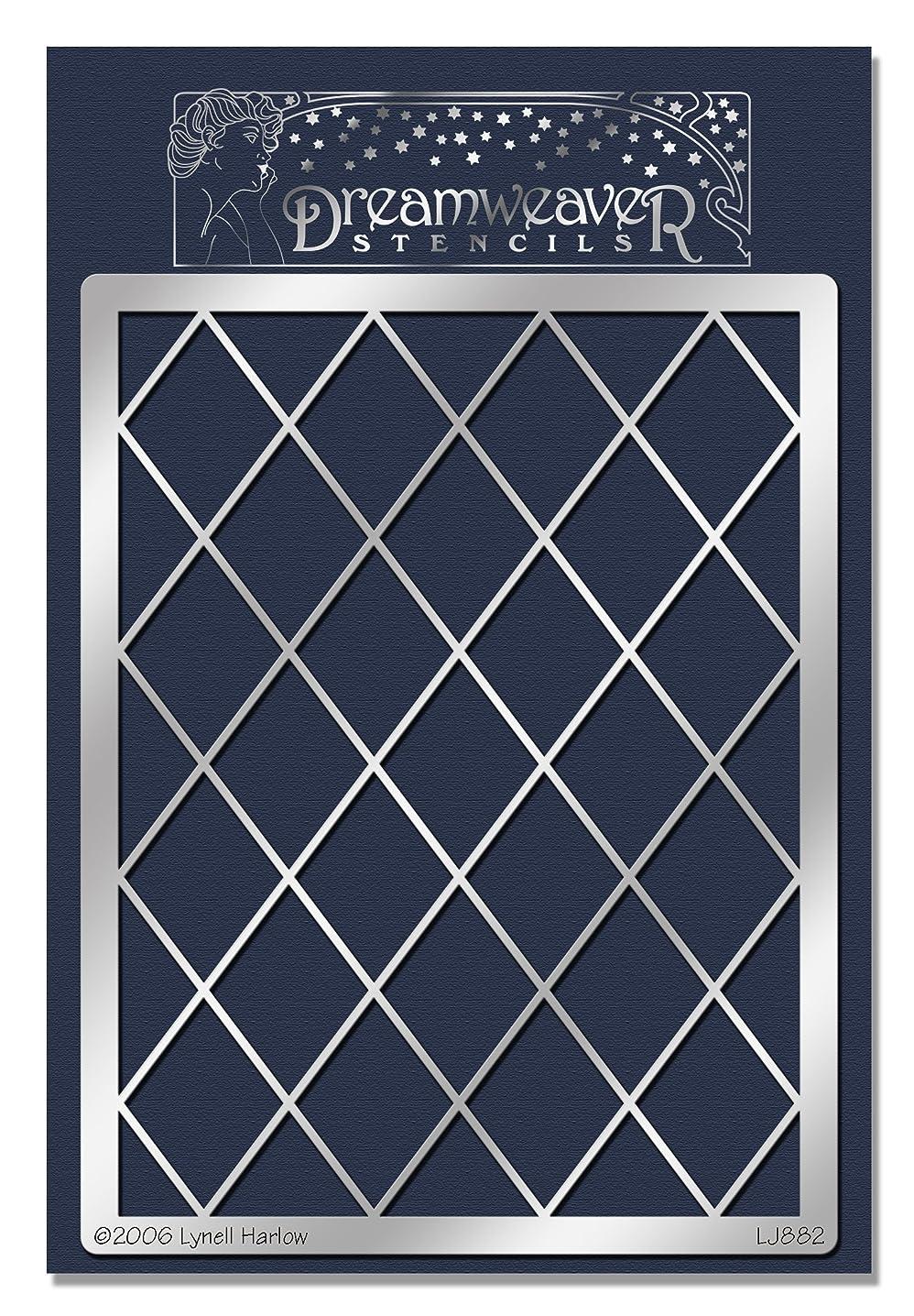 Stampendous Dreamweaver Metal Stencil, Diamond Grid