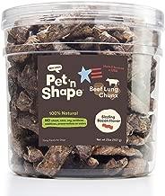 Golosinas para perros de pulmón de res Pet 'n Shape - Hecho y abastecido en los EE. UU.
