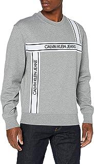 Calvin Klein Jeans Men's Logo Tape Fashion Crew Neck Sweater