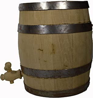 Scratch DENT Sale 1.5 Gallon New Oak Barrel Whiskey Rum Wine Cask Beer Keg with Stand Tiki Wet Bar Art Decor USE ONLY