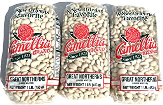 Camellia Great Northerns White Beans Dry 1 Lb (3Pack)