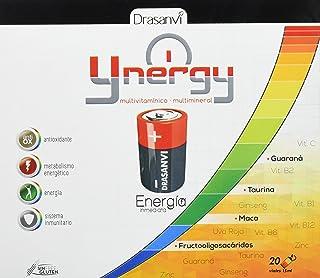 Ynergy Energía Inmediata 20 viales x 15 ml con Maca. Ginseng. Guaraná. Vitaminas y Minerales Drasanvi