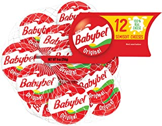 Mini Babybel Original Snack Cheese 12 Pack (9 Ounce), Cheddar