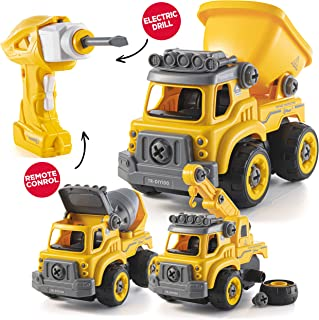 Take Apart Toys with Electric Drill | Converts to Remote Control Car | 3 in one..