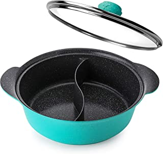Haufson Yin Yang - Casserole - Fonctionne avec toutes les plaques de cuisson - Naturellement antiadhésive - Design sans so...