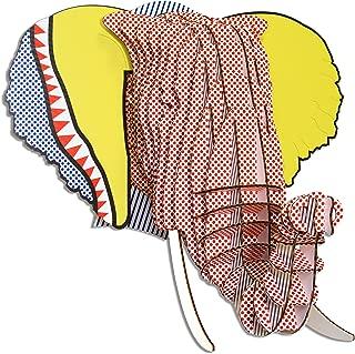 Cardboard Safari Recycled Cardboard Animal Taxidermy Elephant Trophy Head, Modern Art Prints, Pop Eyan Small