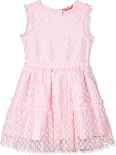 Amazon Brand - Jam & Honey Polyester Girls' Dresses & Jumpsuits Knee-Length Dress (JHAW20GPDRS11_Light Pink_9 Years-10 Years)