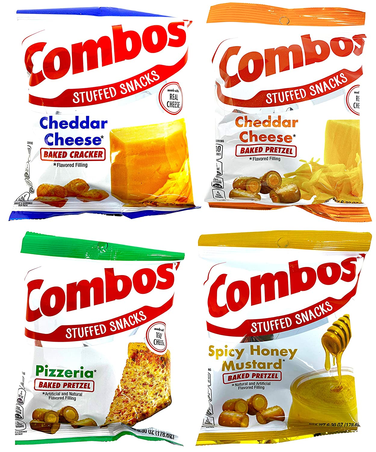 Combos Stuffed Snacks Variety Pack of 4 6.3 Bags Daily bargain sale Ounce National products –