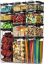12 عبوة مجموعة حاويات تخزين الطعام محكمة الغلق - حاويات منظمة للمطبخ والمخزن - حاويات منظمة للمطبخ والمخزن من البلاستيك ال...