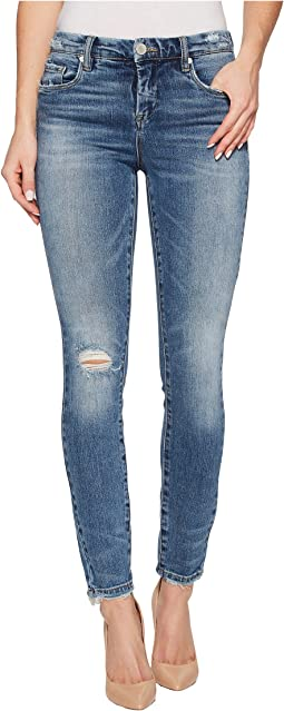 Blank NYC Denim Distressed Mid-Rise Skinny in Trip Switch