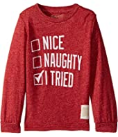 The Original Retro Brand Kids Nice Naughty I Tried Mocktwist Long Sleeve (Toddler)