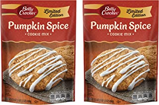 Betty Crocker Cookie Mix - Limited Edition Pumpkin Spice - Makes 3 Dozen Cookies Per Pouch - Net Wt. 17.5 OZ (496 g) Per P...