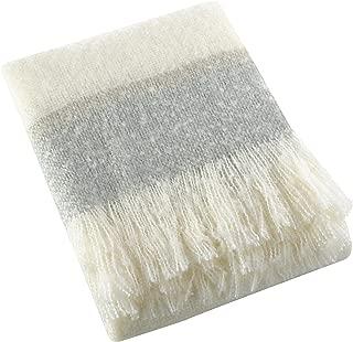 SARO LIFESTYLE Sevan Collection Faux Mohair Design Throw Blanket, 50