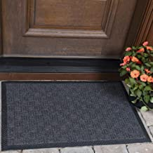 "Ottomanson Rubber Door Mat Doormat, 18"" x 30"", Charcoal"
