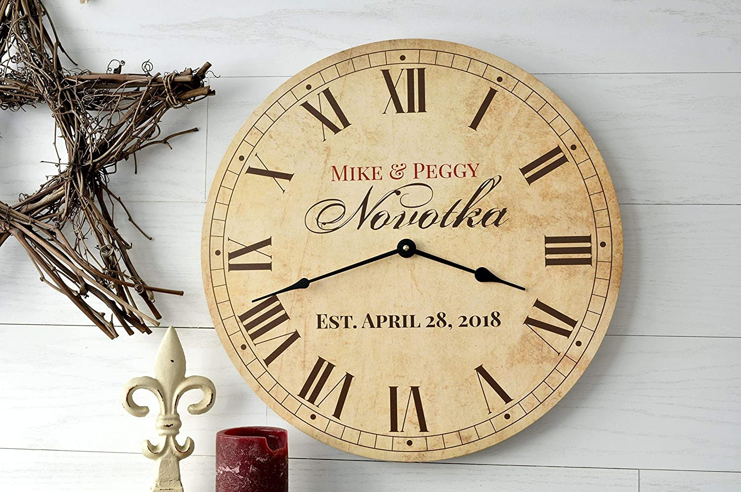 Personalized Detroit Mall Antique Super popular specialty store Finish Clock 18