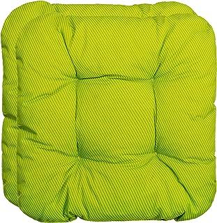 Juego de 2, 4 y 6 cojines decorativos para silla, varios colores (juego de 2, rayas y verde)