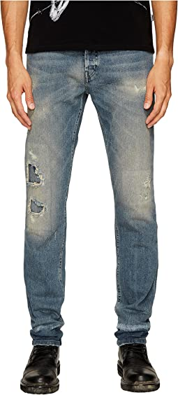 Just Cavalli - Super Slim Fit Jeans in Blue Distressed