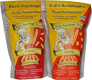 Kaslo Sourdough Pasta Combo!! EAT PASTA FEEL GREAT!- Organic, High Protein, Probiotic Super Food Great for Digestion! Award winning flavour, Kaslo Combo Pack- 1 classic rotini, 1 classic radiatori!