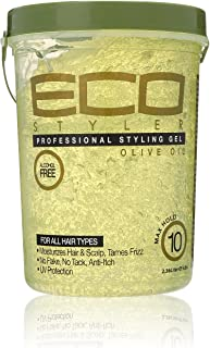 ECO Style Professional Styling Gel, Olive Oil, Max Hold 80 oz