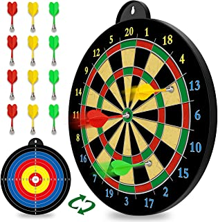 Magnetic Dart Board - 12pcs Magnetic Darts (Red Green Yellow) - Excellent Indoor Game and Party Games - Magnetic Dart Boar...