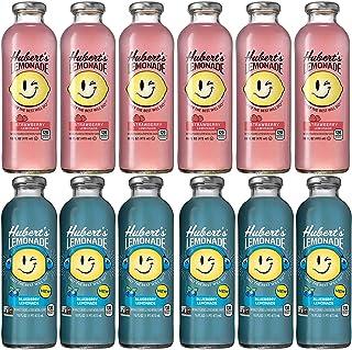 LUV-BOX Variety HUBERT'S Lemonade Juice pack of 12 , 16fl oz , Strawberry , Blueberry